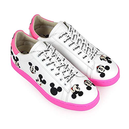 Sneakers Pelle Donna Bianco Md311white Moa qgHUw
