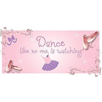 La danza como nadie está mirando! Vinilo removible etiqueta de la pared. El decir