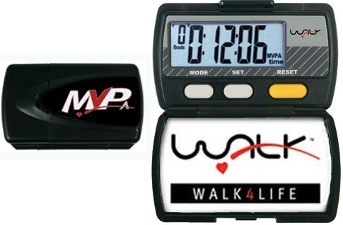 Walk 4 Life 13004A MVPA Digital Pedometer, Black