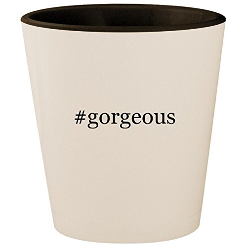 #gorgeous - Hashtag White Outer & Black Inner Ceramic 1.5oz Shot Glass