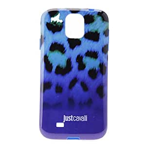 JAJAY-Gradient Ramp Blue Leopard Skin Pattern Soft Anti-Shock Back Case Cover for Samsung Galaxy S4 I9500