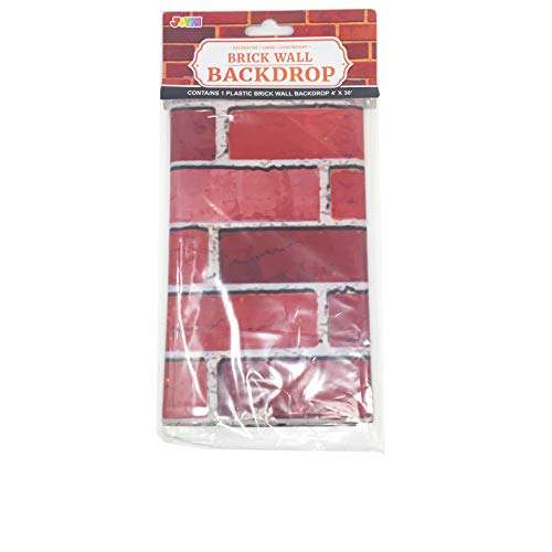 Large Product Image of JOYIN Brick Wall Backdrop 4FT by 30FT Party Accessory Halloween Wall Decorations