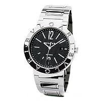 Bvlgari Bvlgari Black Dial Stainless Steel Automatic Mens Watch BB42BSSDAUTO by Bvlgari
