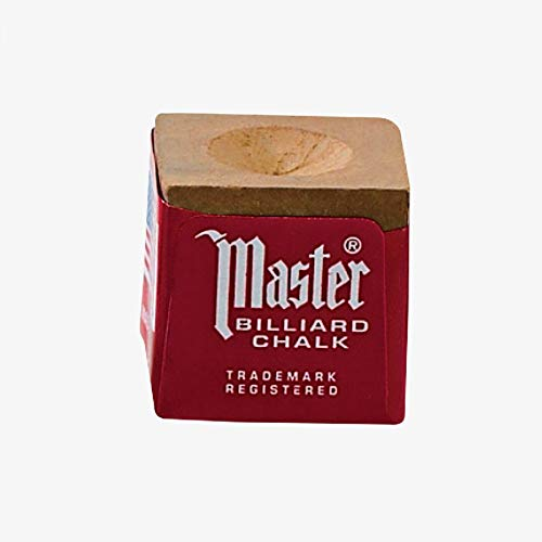 Master Billiard/Pool Cue Chalk, Gross Box, 144 Cubes, Gold