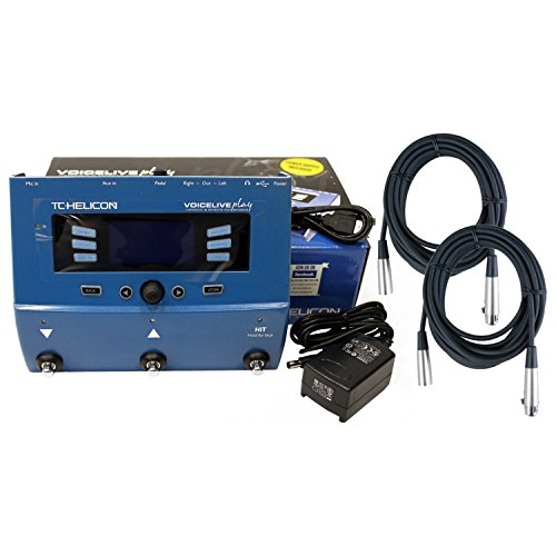 TC-Helicon VoiceLive Play Vocal Effects Pedal w/Power Supply and 2 Free 20' XLR Cables