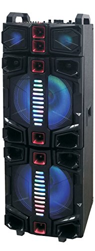 Big Bluetooth Speakers With Lights Qfx Pbx 412217 Dual Portable