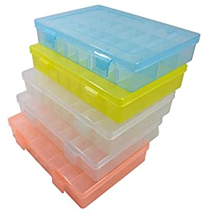 Amazoncom 5 pcs Big Plastic Storage Organizer Adjustable Divider
