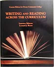 writing and reading across the curriculum ebook