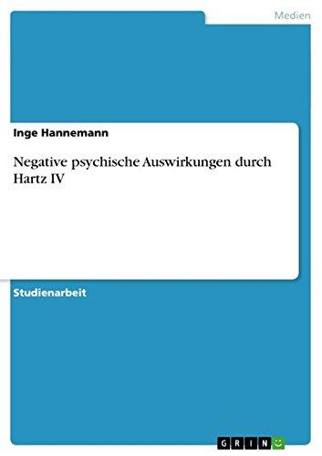 Negative psychische Auswirkungen durch Hartz IV