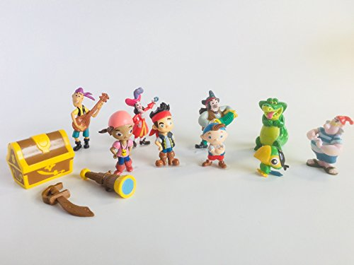 Disney Jake and Never Land Pirates Cake Toppers / Cupcake Party Favor Decorations Set of 12