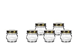 Amici Orto Canning Jars with Lids, 5.5 oz - Set of 6