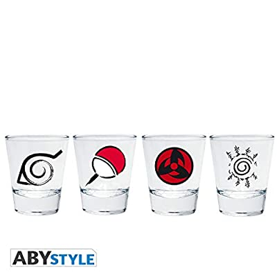 """ABYstyle - NARUTO SHIPPUDEN - Shooters""""Emblème"""": Toys & Games"""