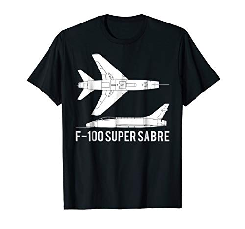 F-100 Super Sabre Jet Fighter Plane Tshirt Gift for sale  Delivered anywhere in USA