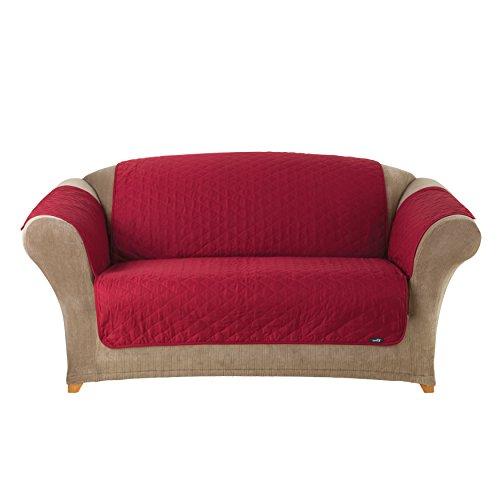 SureFit Furniture Friend Pet Throw - Loveseat Slipcover - Claret