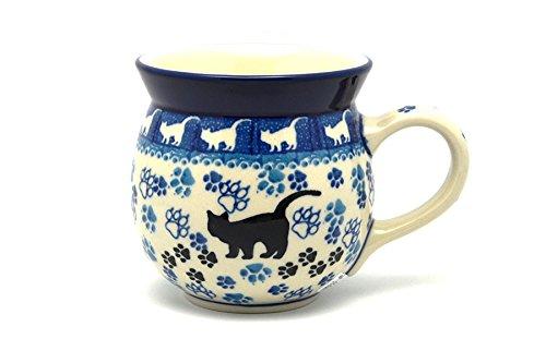 Polish Pottery Mug - 15 oz. Bubble - Boo Boo Kitty - Kitty Cat Pottery