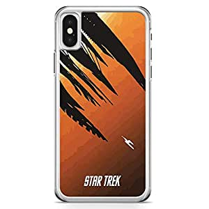 Loud Universe Star Trek in to the world iPhone X Case Movie Poster iPhone X Cover with Transparent Edges