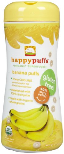 Happy Family Puffs - Banana - 2.1 oz - 3 pk