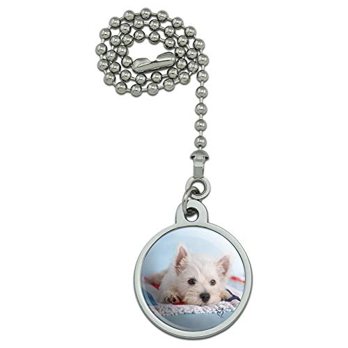 (GRAPHICS & MORE West Highland Terrier Westie Puppy Dog Beach Towel Ceiling Fan and Light Pull Chain)