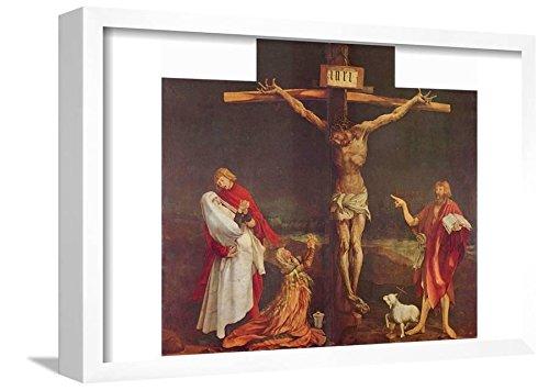 Mathis Gothart Grunewald (Isenheim Altar, formerly the main altar in Antoniterklosters Isenheim/A Poster Framed Lamina, White