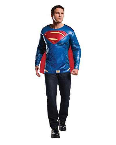 Rubie's Men's Batman v Superman: Dawn of Justice Superman Muscle Chest Top, Multi, One Size (Superman Adult Costume)