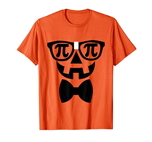 Pumpkin Pi Tshirt, Halloween Nerd Costume, Funny Math Pun T-Shirt