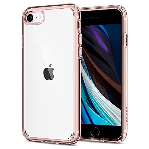 Spigen Ultra Hybrid 2 Kompatibel mit iPhone SE 2020 Hülle, iPhone 8/7 Hülle Einteilige Transparent Schutzhülle Case Rose Crystal 042CS20924