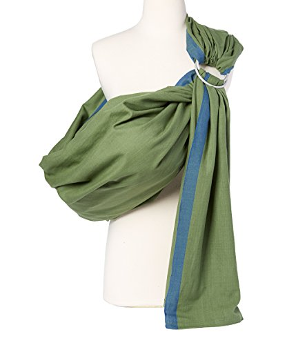 Hip Baby Wrap Ring Sling Baby Carrier for Infants and Toddlers (Fern) Balboa Baby Sling