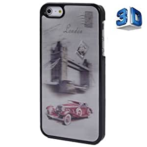 3D Effects Style The City of London Pattern Plastic Case for iPhone 5