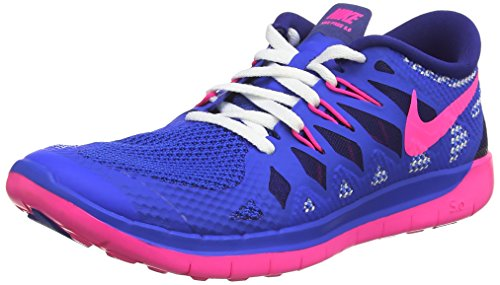 Nike Kids Free 5.0 (big) Hyper Cobalt / Deep Blue Royal / Bianco / Iper Rosa