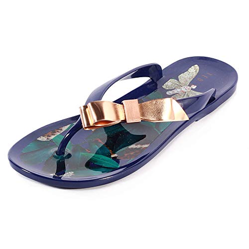 Ted Baker Women's Suzzip PVC Slip On Flip Flop Navy -
