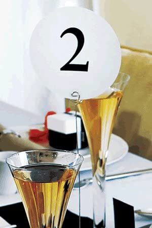 Tarjeta de números de mesa para boda 12 unidades mesa - TNW ...
