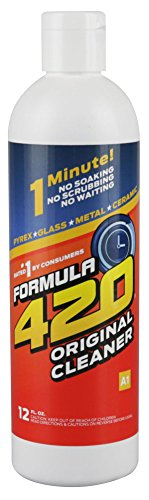 1 X FORMULA 420 PIPE CLEANER - GLASS METAL CERAMIC CLEANSER 12OZ (Formula 420 Glass)