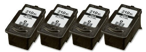HouseOfToners Remanufactured Ink Cartridge Replacement for Canon PG-210XL (4 Black, 4-Pack)