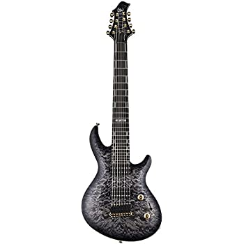 ESP Artist Series LJR608QMFBSB 8-String Solid-Body Electric Guitar with Hard Shell Case, Faded Blue Sunburst