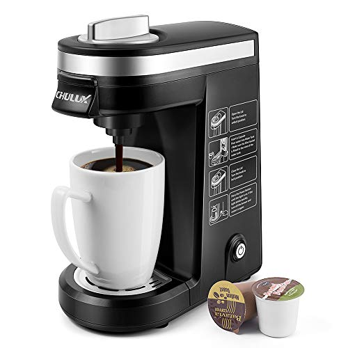 CHULUX Single Serve Coffee Maker Brewer for Single Cup Capsule with 12 Ounce Reservoir,Black ()