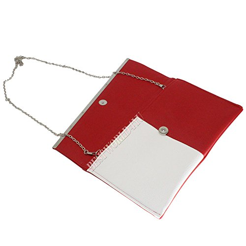 Wocharm Purse Bag Over Wedding Bag Evening Handbag Clutch Clutch amp; Party Wedding Handbag Sized BagOver Purse Party Sized Red White Asymmetrical Bag Asymmetrical Evening rrw7Rd