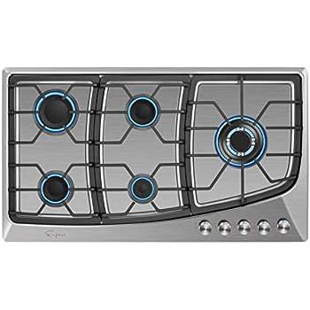 Amazon.com: Happybuy - Batería de cocina de gas LPG/NG con ...