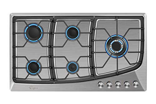 Empava EMPV-36GC901 Gas Stove Cooktop, 36 Inch