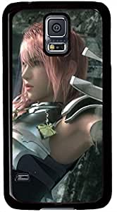 Lightning Final Fantasy XIII 2 Cases for Samsung Galaxy S5 I9600 with Black Skin