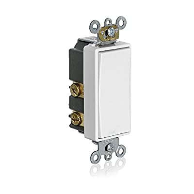 Leviton 56080-2W Momentary Contact SPST Decora Plus Rocker Switch, White