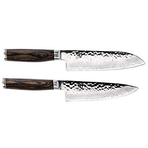 Shün Premier 2-piece Knife Set, 6-inch Chef's Knife and 7-inch Santoku Knife