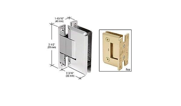 Bisagra de cristal para mampara de ducha de cristal de alta calidad con placa trasera completa: Amazon.es: Bricolaje y herramientas