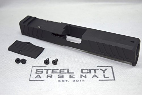 Steel City Arsenal Freedom Fighter Glock 19 Gen 4 Custom Milled Slide with Trijicon RMR & Cover Plate Black by Steel City Arsenal
