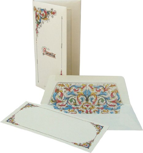 Florentia Long Cards and Envelopes Portfolio, Italian Stationery Paper