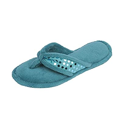 Beverly Rock Womans Sequin Studded Terry Spa Thong Flipflop Slippers
