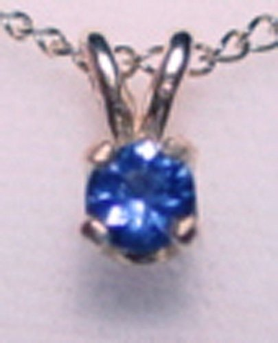 - MONTANA YOGO SAPPHIRE ROUND PENDANT STERLING SILVER