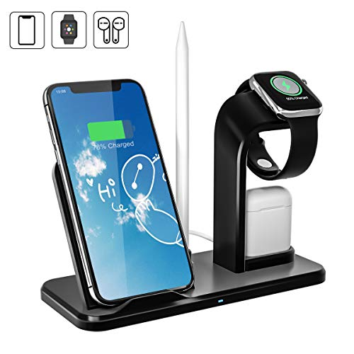 Charger Stand - Wireless Charger Stand, AQHQUA 10W Qi Fast Wireless Charging Stand Compatible with iPhone XR/XS Max/X / 8/8 Plus, Samsung Galaxy S9/S9+/S8+/S7