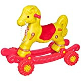 JJP 2-in-1Baby Horse Rider for Kids 1-5 Years Birthday Gift for Kids/Boys/Girls (Multicolour) (Yellow & Red)