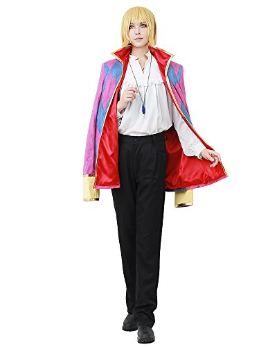 Miccostumes Men's Howl's Moving Castle Howl Cosplay Costume (Men m)