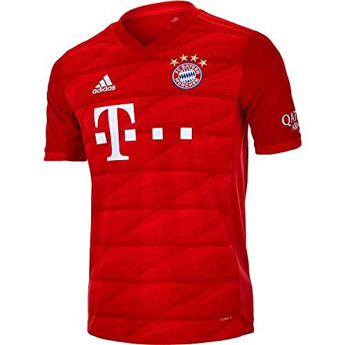adidas Youth FC Bayern 19/20 Home Jersey (Youth Medium) Red